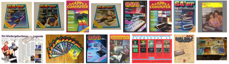 German Commodore 64 magazines.